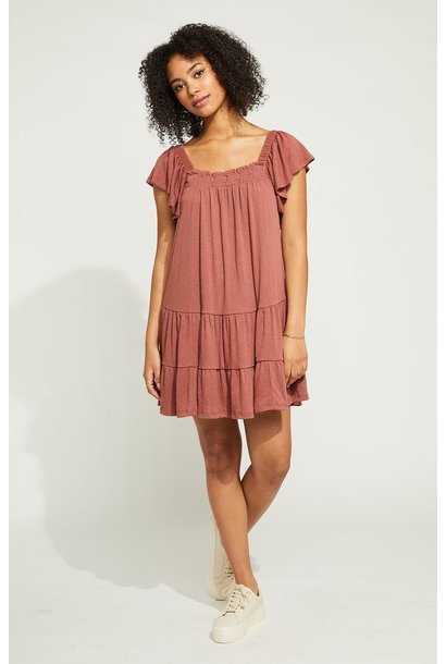 Anise Tiered Dress ROSEWOOD