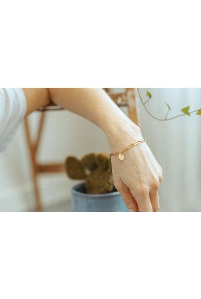 Lower Mono Paperclip Bracelet