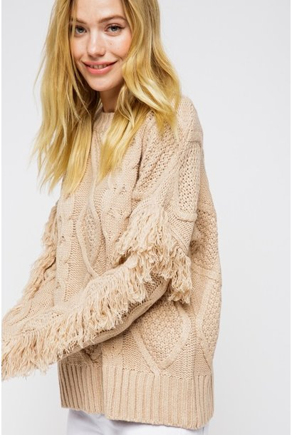 Jules Fringe Sweater TAU