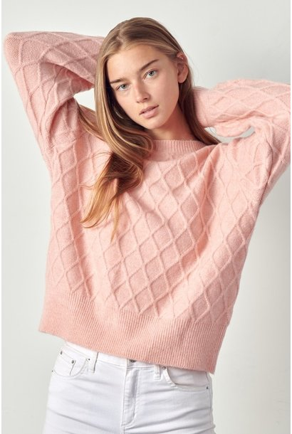 Harlie Cable Knit Sweater BLSH