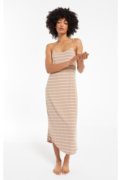 Daytime Stripe Dress LATTE