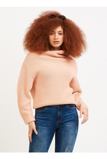 Mock Neck Ribbed Sweater PCH