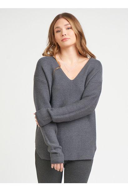Waffle Vnck Sweater CHAR