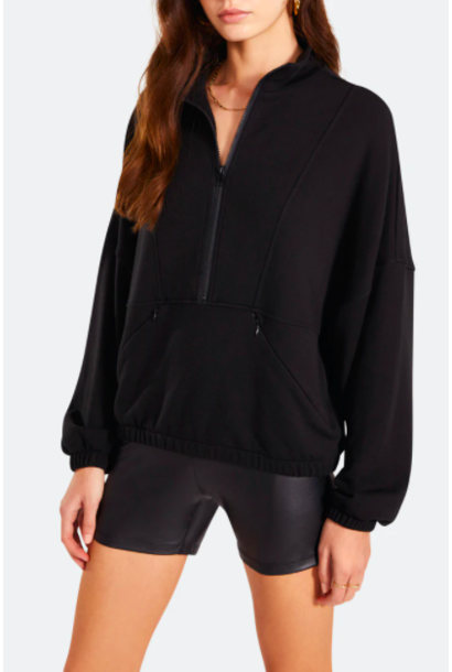 Track to Basics Pullover BLK