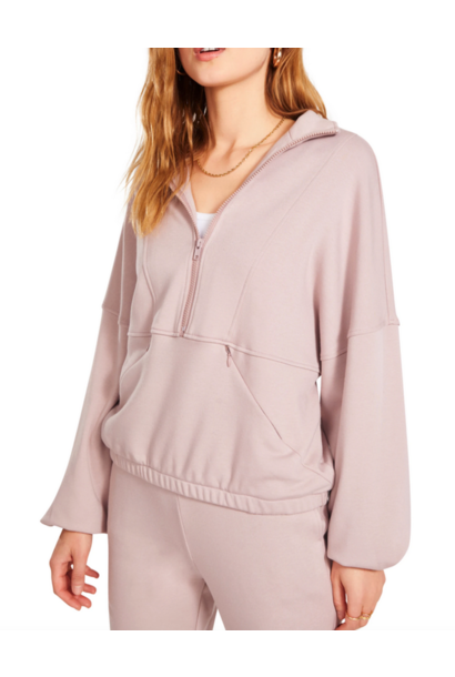 Track to Basics Pullover ROSE