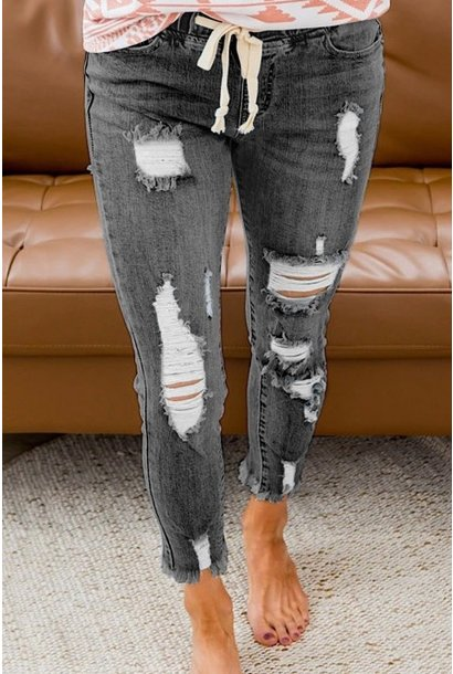 Comfort and Joy Pull On Jean GRY
