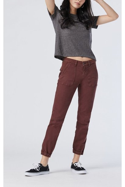 Ivy Twill Jogger RED BEAN