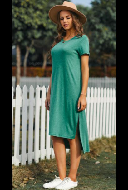 Tasha T-shirt Dress GRN