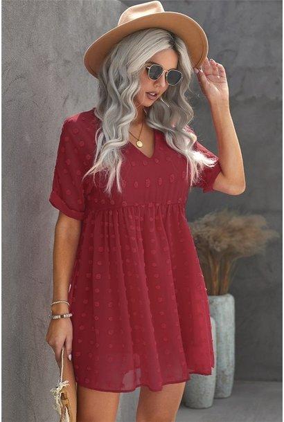Fever Pitch Mini Dress RED