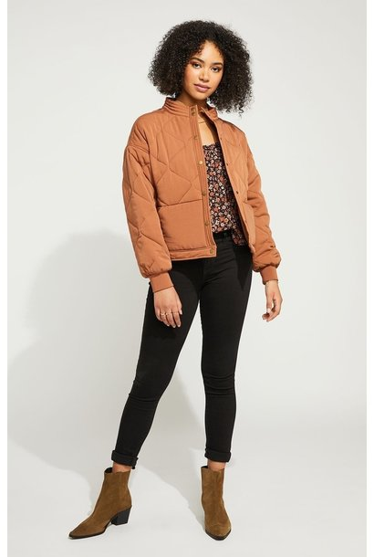 Quinn Quilted Jacket TOFFEE