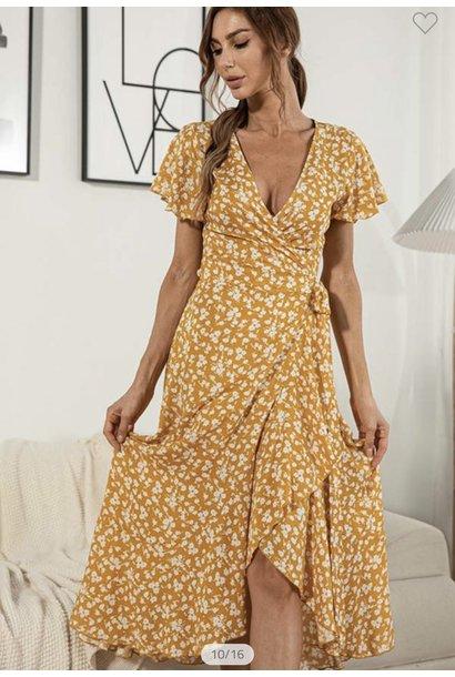 Magnolia Wrap Dress YEL