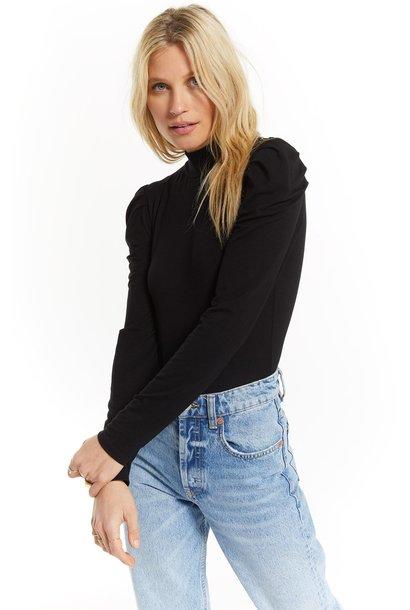 Luna Long Sleeve Bodysuit BLK