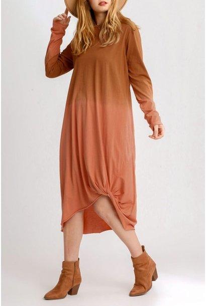 Autumn Ombre L/S Shirt Dress CAM