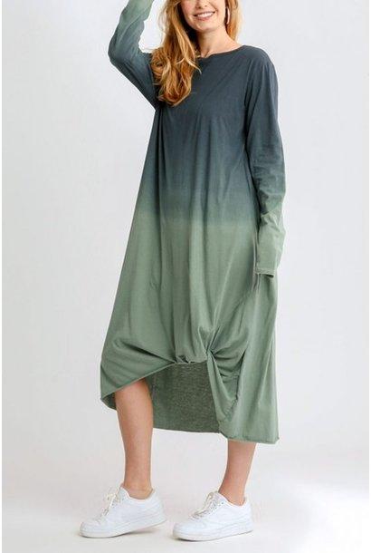 Autumn Ombre L/S Shirt Dress NVY