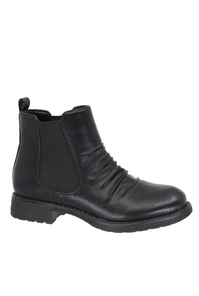 Addison Scrunch Front Chelsea Boot BLK