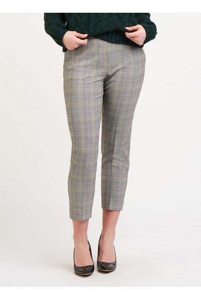 Crop Plaid Trouser BLK