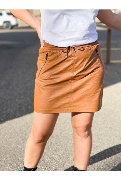 Mady Faux Leather Skirt COG