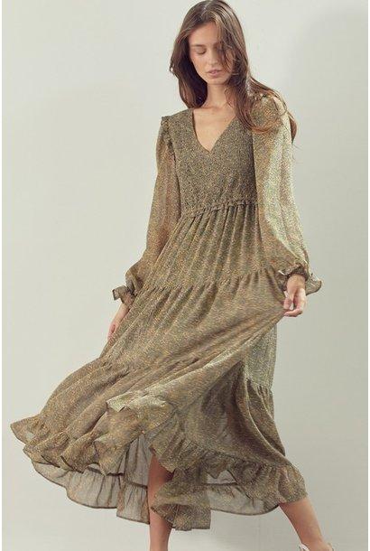 Jill Allover Floral Maxi Dress SAGE