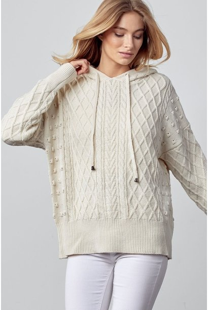 Camille Cable Hooded Sweater OAT