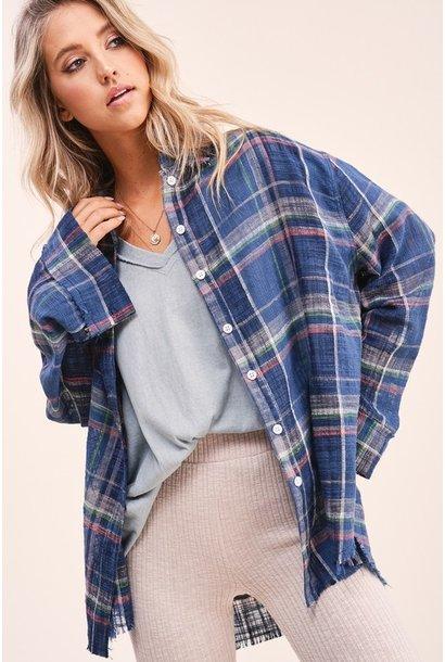 Dakota Light Plaid Shirt NVY