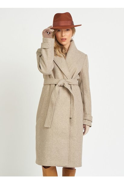 Long Belted Collared Jacket OAT