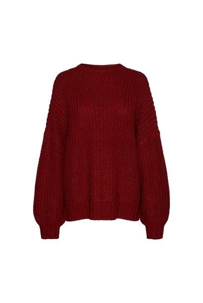 Dessa L/S Knit Sweater RHUBARB