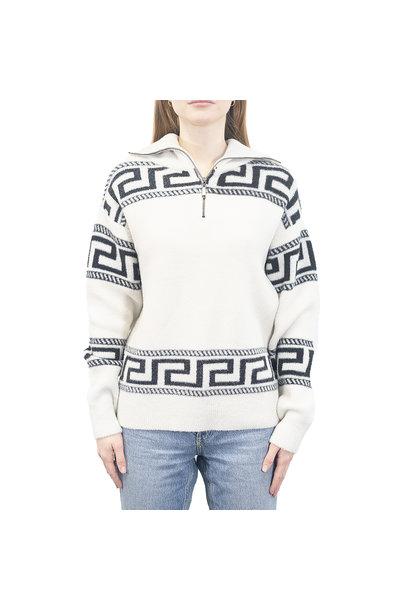 Greek Key 1/2 Zip Sweater BGE