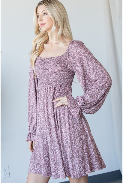 Falling For You Floral Dress WINE