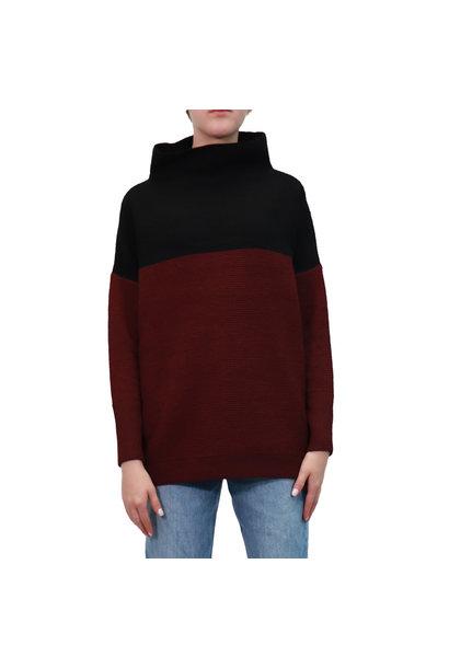 Anni Ottoman Sweater BLK/BORD