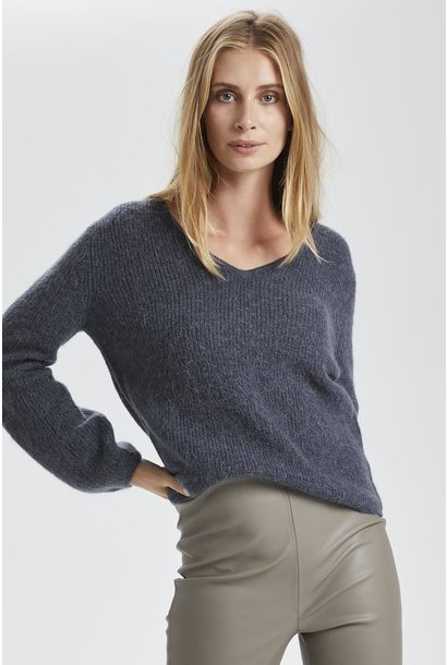 Tuesday V Neck Sweater GRY