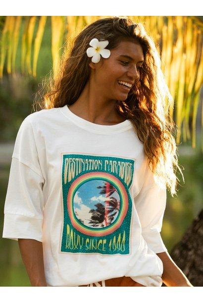 Macrame Oversized T Shirt WHT