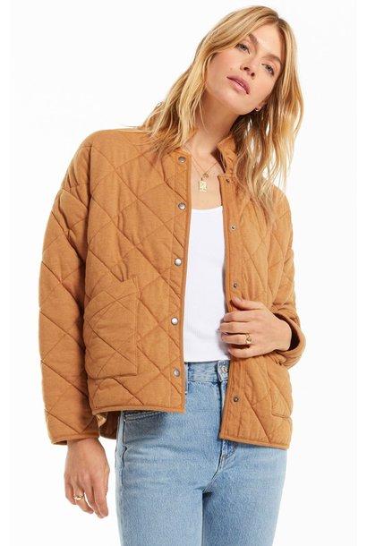 Maya Quilted Jacket CAMEL
