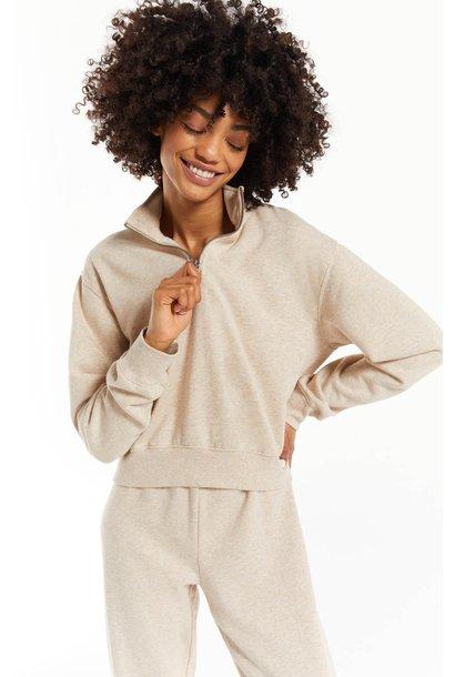 Half Zip Sweatshirt H LATTE