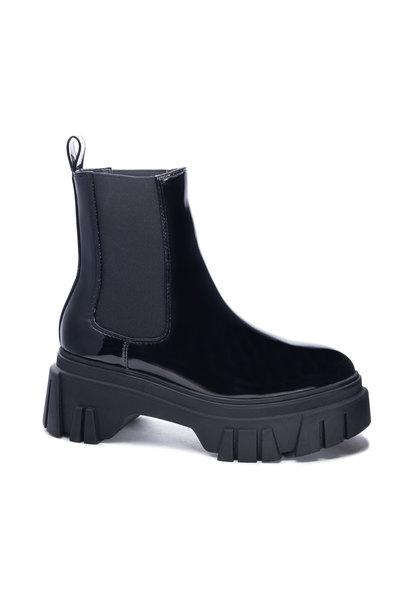 Jenny Patent Lug Sole Boot BLK