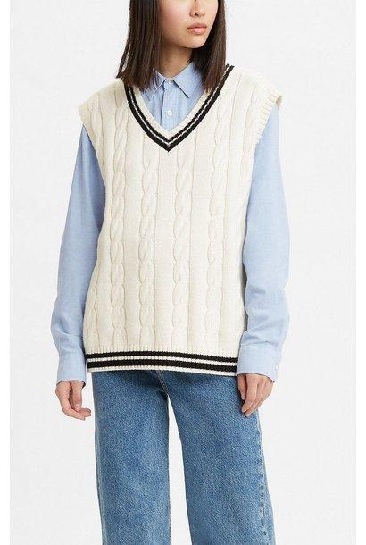 Agi Sweater Vest WHT