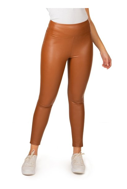 High Waisted Faux Leather Legging CAM