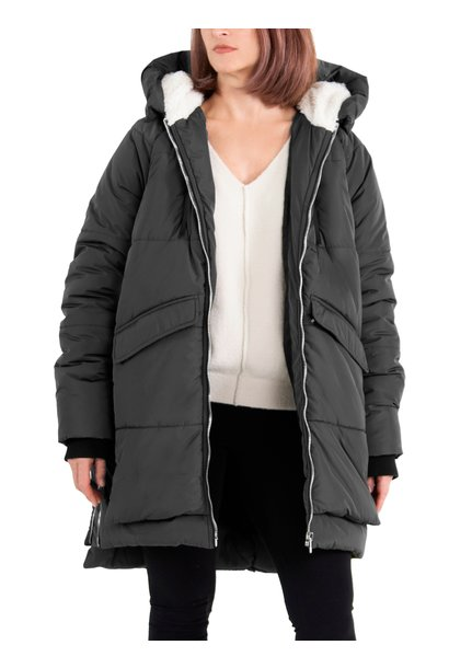 Hooded Puffer Jacket BLK