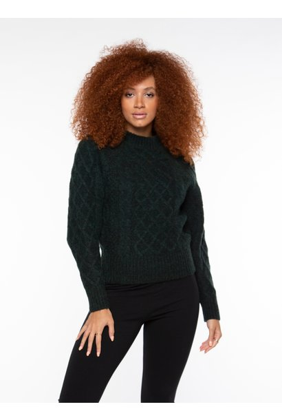 Cable Knit Sweater PINE