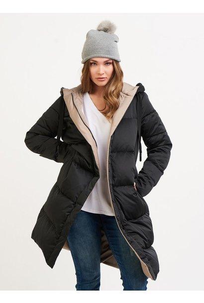 Hooded Reversible Jacket BLK