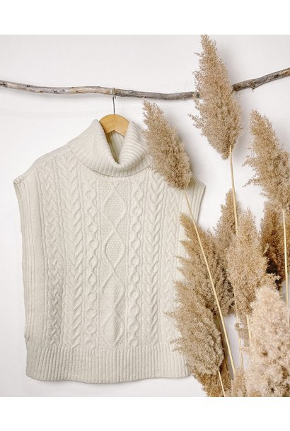 Turtleneck Sweater Vest CRM