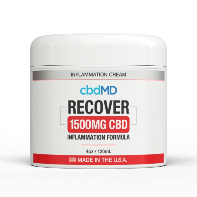 cbdMD INFLAMMATION FORMULA | RECOVER | 1500mg | TUB | 4oz