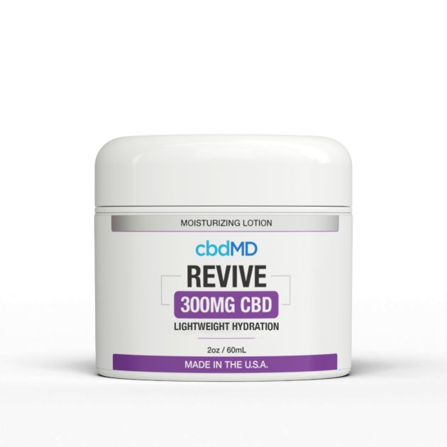 cbdMD Moisturizing Lotion Revive CBD 300mg 2oz Tub