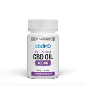 cbdMD CBD Oil Capsules 450mg 30 Count