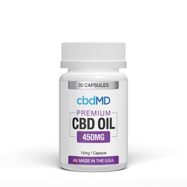 cbdMD CBD OIL CAPSULES | 450mg | 30 COUNT