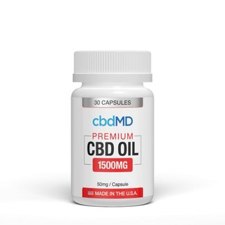 cbdMD CBD OIL CAPSULES | 1500mg | 30 COUNT