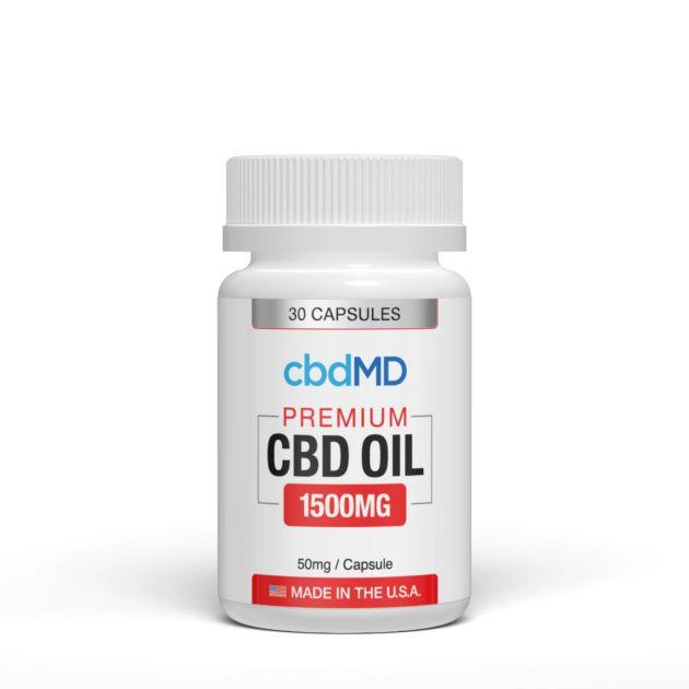 cbdMD CBD OIL CAPSULES   1500mg   30 COUNT