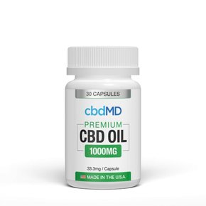 cbdMD CBD Oil Capsules 1000mg 30 Count