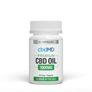 cbdMD CBD Oil Capsules 1000mg 30 Count