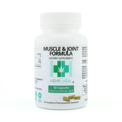 Hemp & Heal Cbd Oil Muscle & Joint Vegan Capsules 30 Count