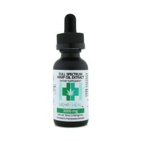 Hemp & Heal Tincture Drops Full Spectrum 3000mg